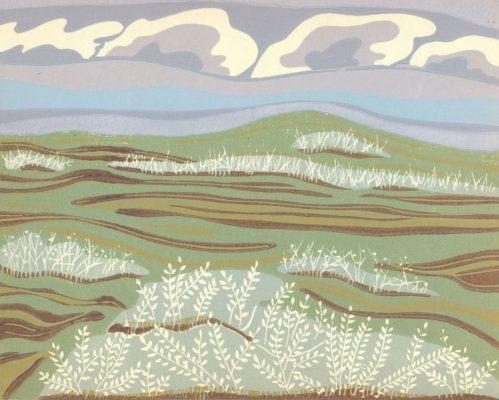 Linoleum Block Relief Print for Sale - Kinbrook Island, AB