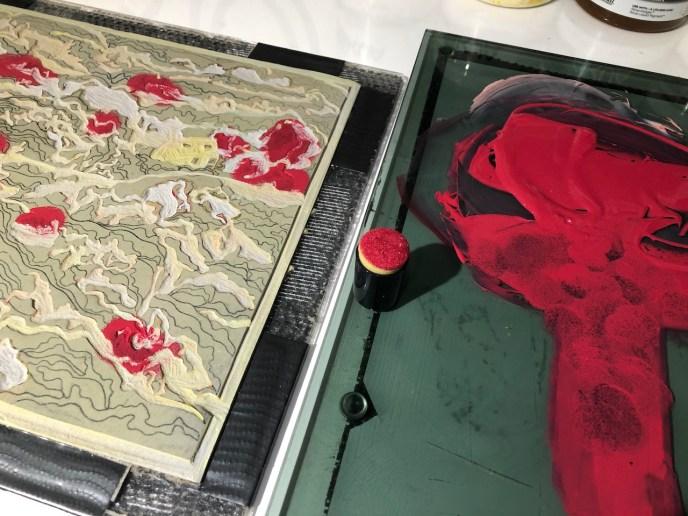 Making a Reduction Linocut - Tutorial by Kat Goetz, Blue Chisel Studio