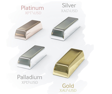 Image result for gold silver palladium platinum