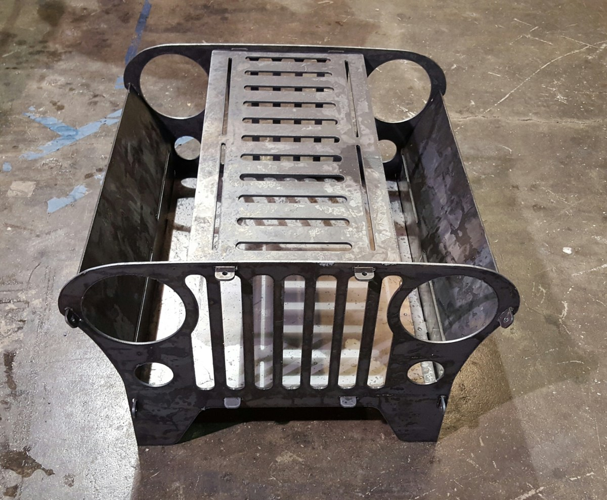 Jeep Collapsible Fire Pit Blue Collar Welding Llc