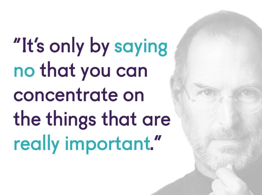 Steve Jobs Quote About No