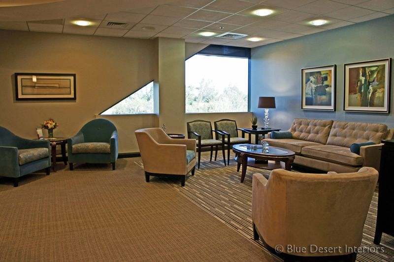 Blue Desert Interiors    Scottsdale Office Renovation scottsdale office remodel interior decorator plastic surgery