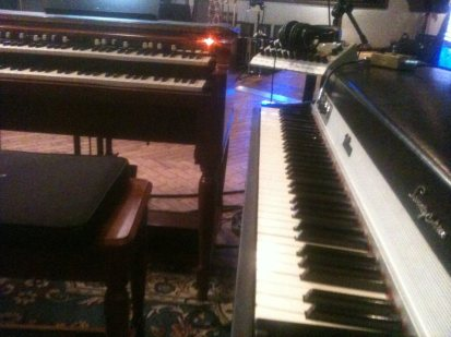 Rhodes and B3-this Los Angeles keyboardist's dream rig.