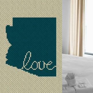 Arizona Love C2C Corner to Corner Crochet Pattern