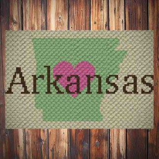 Heart Arkansas C2C Crochet Pattern