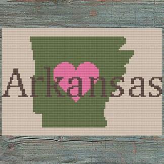 Heart Arkansas Cross Stitch Chart