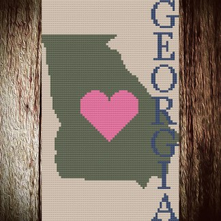 Heart Georgia Cross Stitch Chart