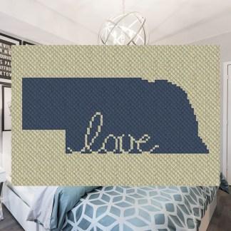 Nebraska Love C2C Corner to Corner Crochet Pattern
