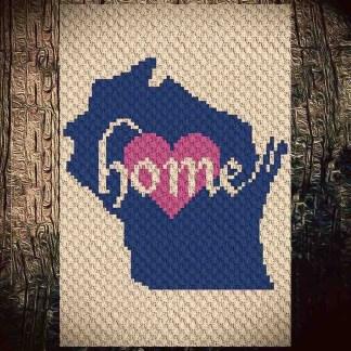 Wisconsin Home C2C Crochet Pattern