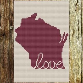Wisconsin Love Cross Stitch Chart