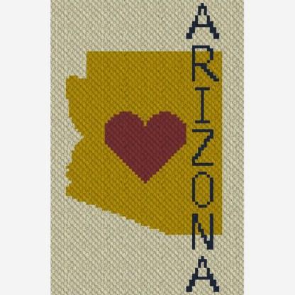 Heart Arizona C2C Corner to Corner Crochet Pattern