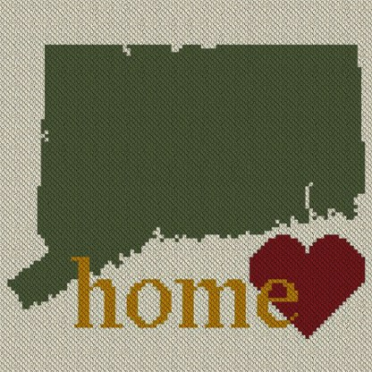 Connecticut Home C2C Afghan Crochet Pattern Corner to Corner Graphghan Cross Stitch Blue Frog Creek
