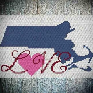Massachusetts Love C2C Crochet Pattern