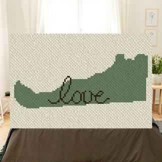 Delaware love corner to corner crochet pattern