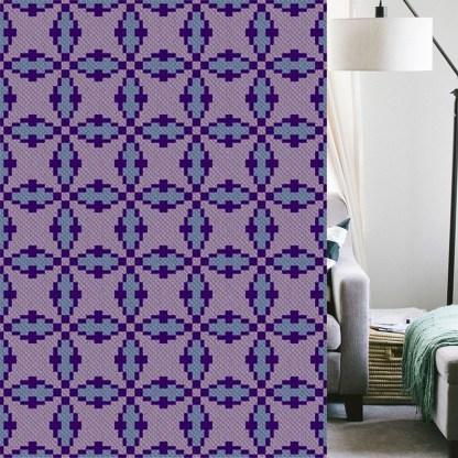 Rendition C2C Afghan Crochet Pattern Corner to Corner Crochet Blanket Graphghan Cross Stitch Blue Frog Creek