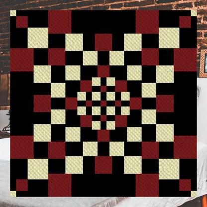 The Dark Night C2C Crochet Pattern