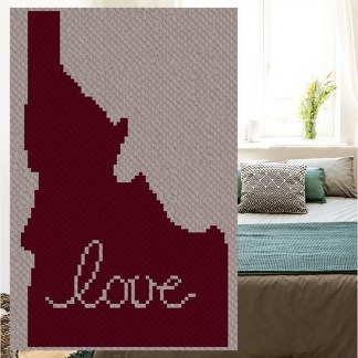 Idaho love corner to corner C2C crochet pattern