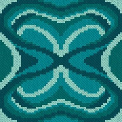 midnight moth corner to corner C2C crochet pattern