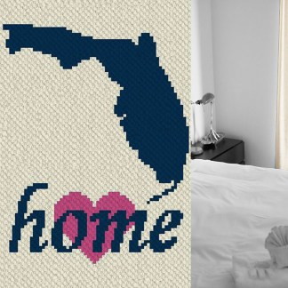 Florida Home Corner to Corner C2C Crochet Pattern