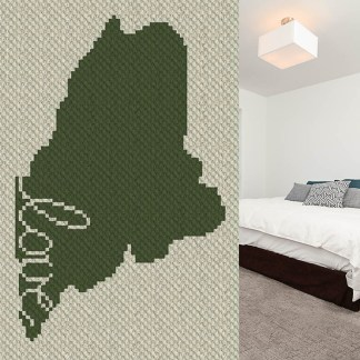 Maine Love C2C Corner to Corner Crochet Pattern