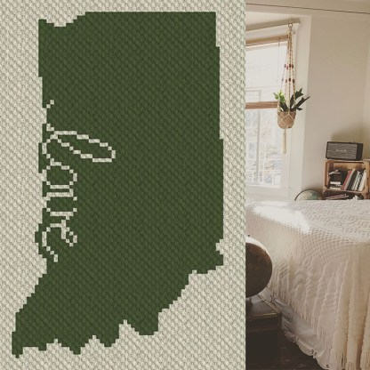 Indiana Love C2C Afghan Crochet Pattern