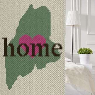 Maine Home C2C Corner to Corner Crochet Pattern