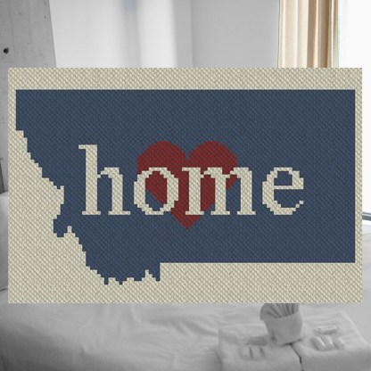 Montana home C2C Afghan Crochet Pattern Corner to Corner Cross Stitch Graphghan