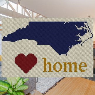 North Carolina Home C2C Afghan Crochet Pattern Corner to Corner Graphghan Cross Stitch Graph Blue Frog Creek