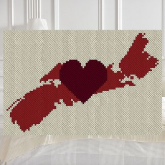 My Love Nova Scotia C2C Afghan Crochet Pattern Corner to Corner Blanket Graphghan Cross Stitch Pattern Blue Frog Creek