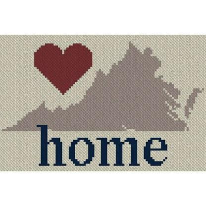 Virginia Home C2C Afghan Crochet Pattern Corner to Corner Graphghan Cross Stitch Blue Frog Creek