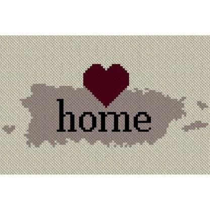 Puerto Rico Home C2C Afghan Crochet Pattern Corner to Corner Blanket Cross Stitch Graphghan Pattern Blue Frog Creek