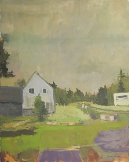 "Stephen Dinsmore, Rural Yard, oil on canvas, 60"" x 48"""