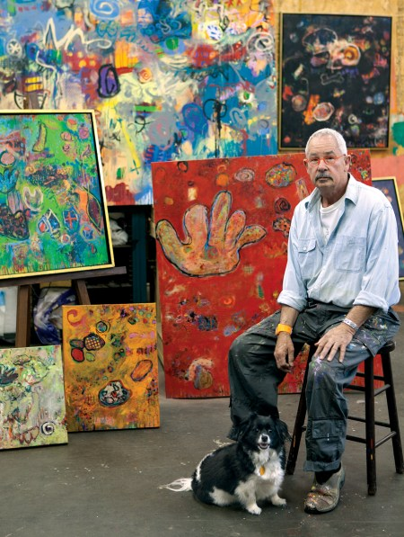 William Rainey in his studio