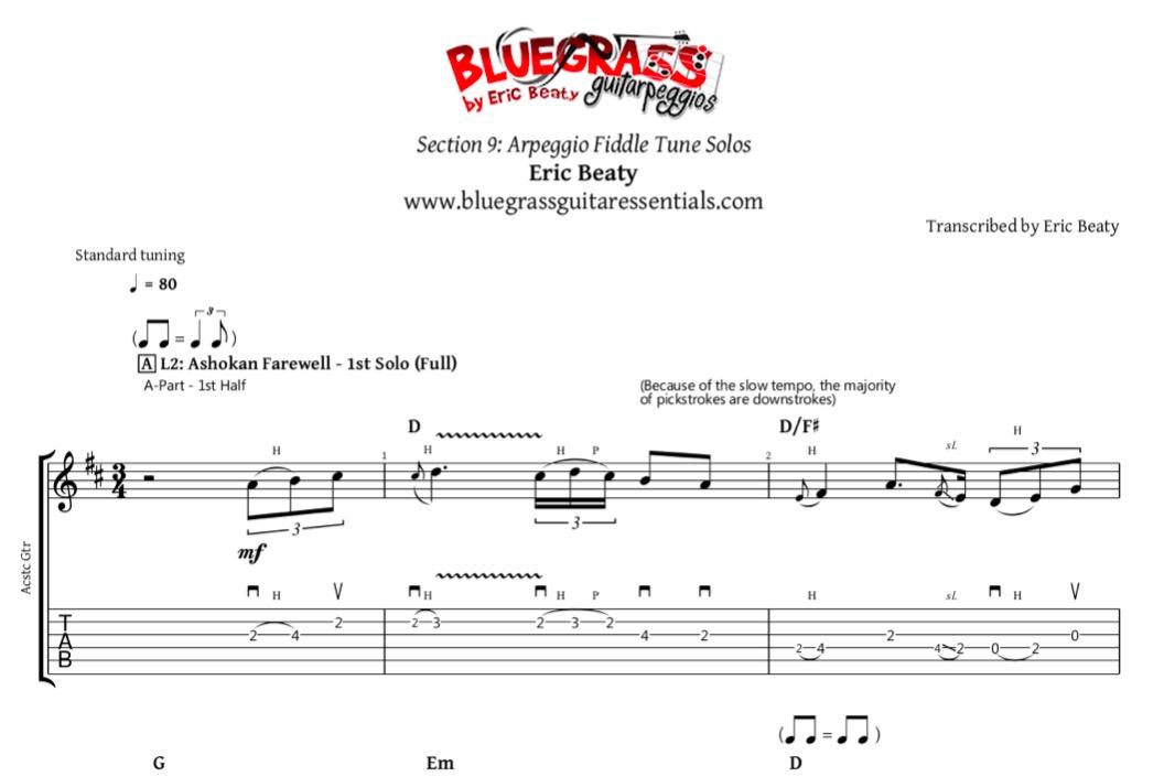 Ashokan Farewell - FREE Solos & Tabs Pack | Bluegrass