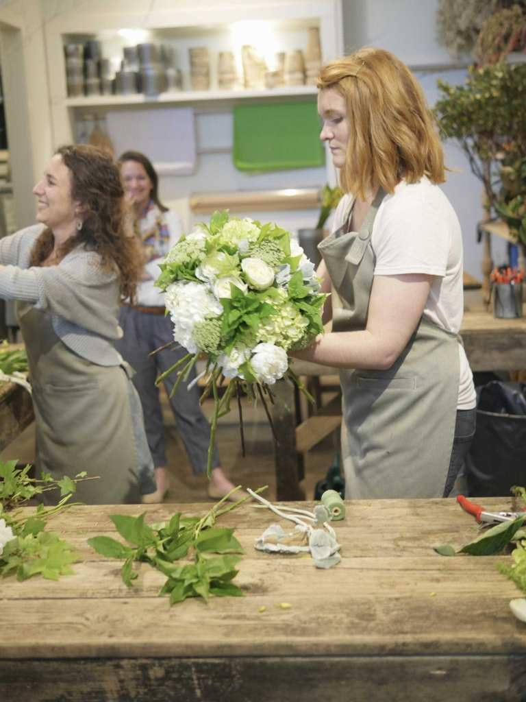 Atlanta flower shops with classes to learn tips from a master florist.