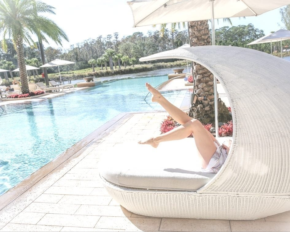 bluegraygal in luxury pool furniture at four seasons orlando adult only pool