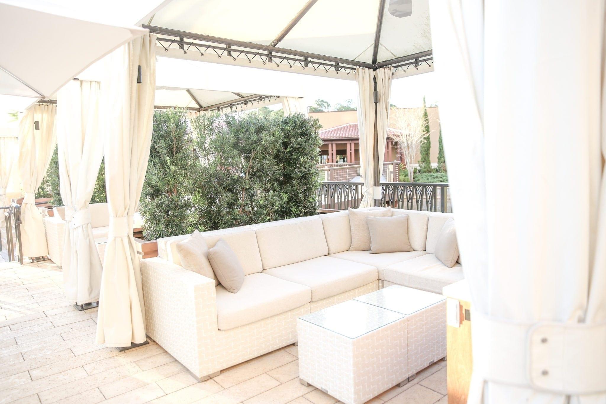 cabana couches at four seasons orlando pools