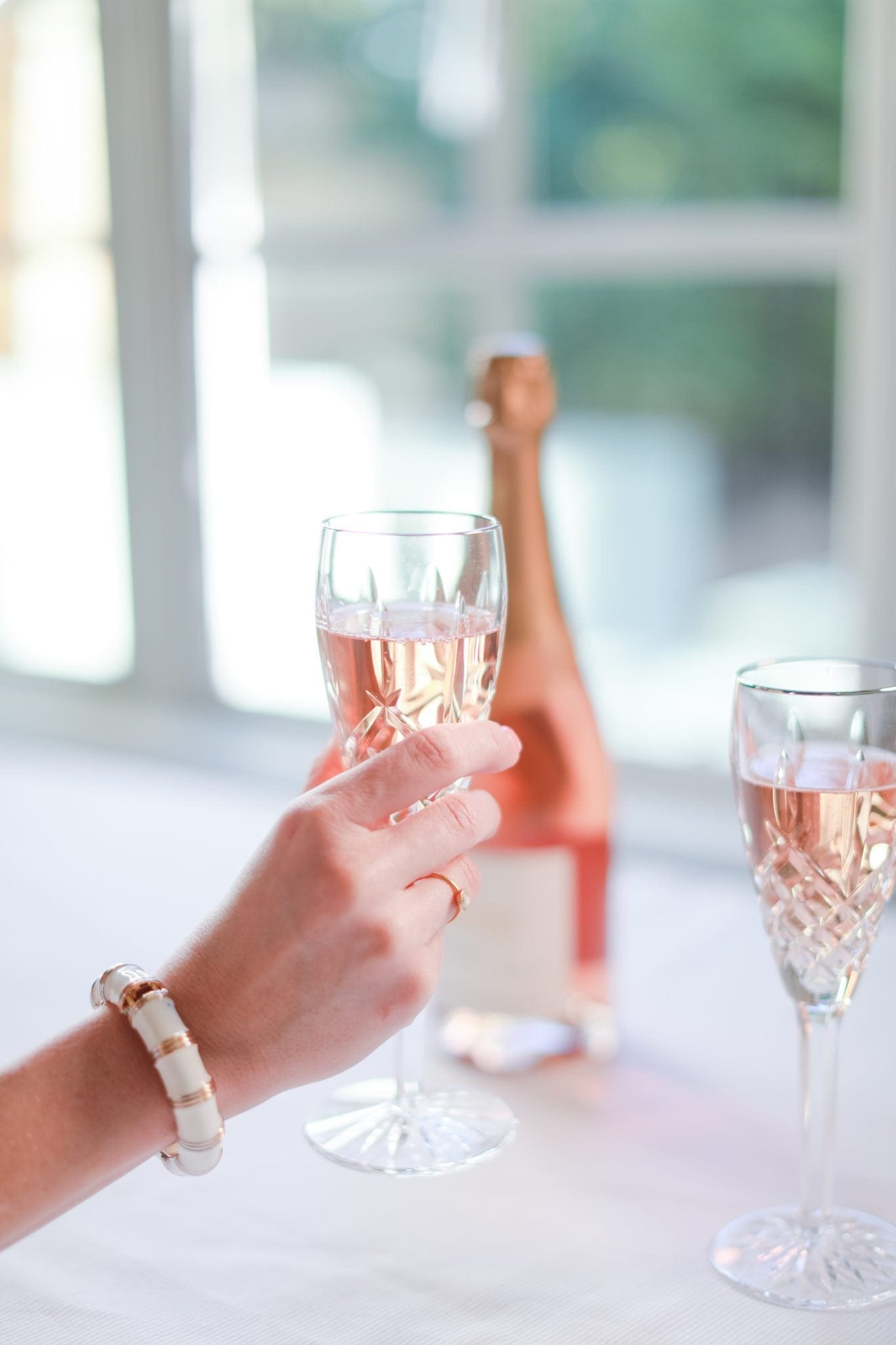 Waterford Crystal Champagne Flutes. Rose everyday.