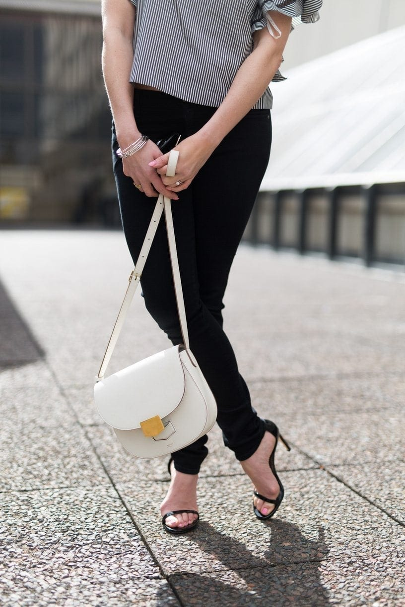 Celine crossbody bag. White crossbody bag.