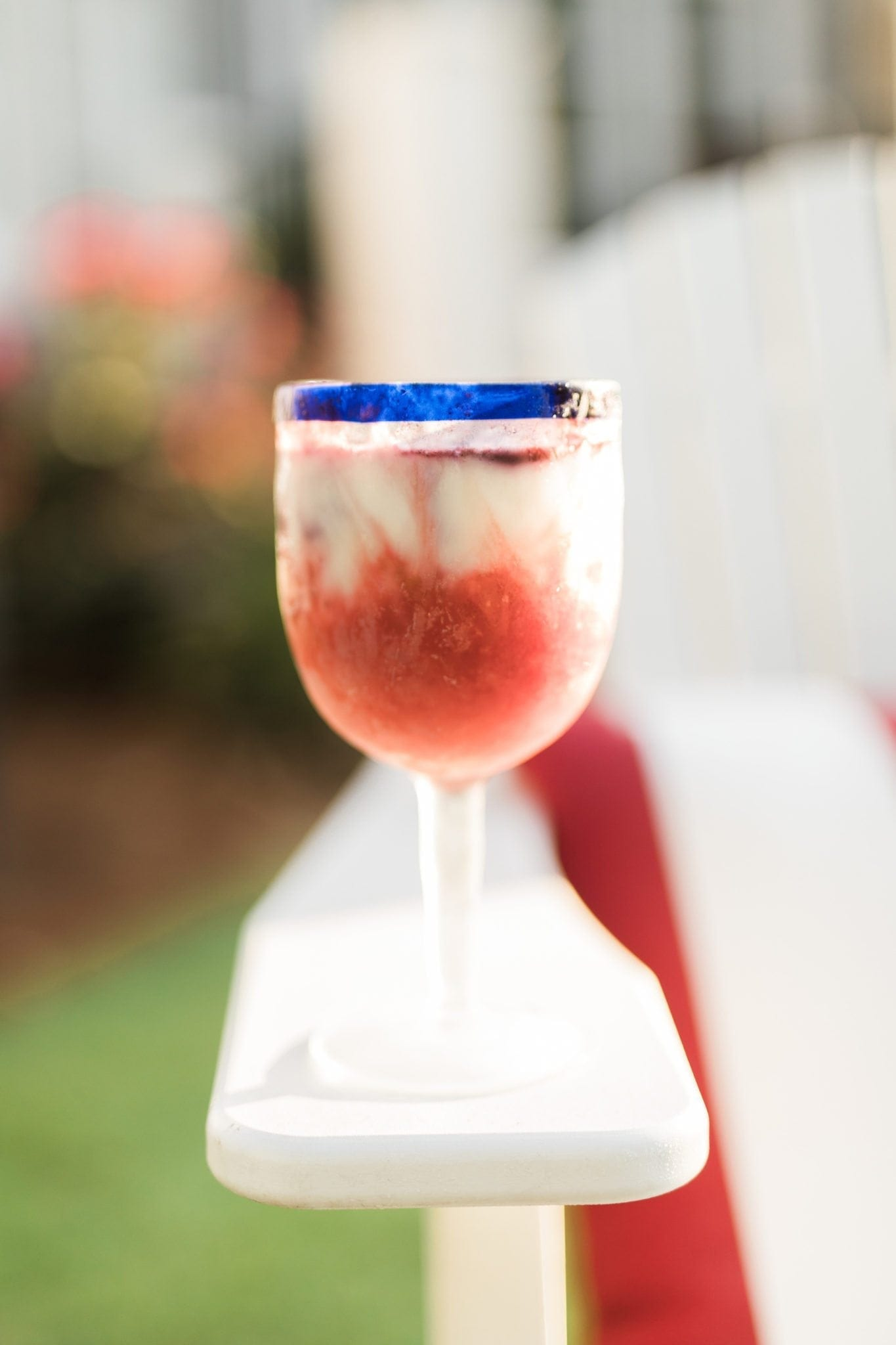 Yogurt Smoothie for outdoor party.