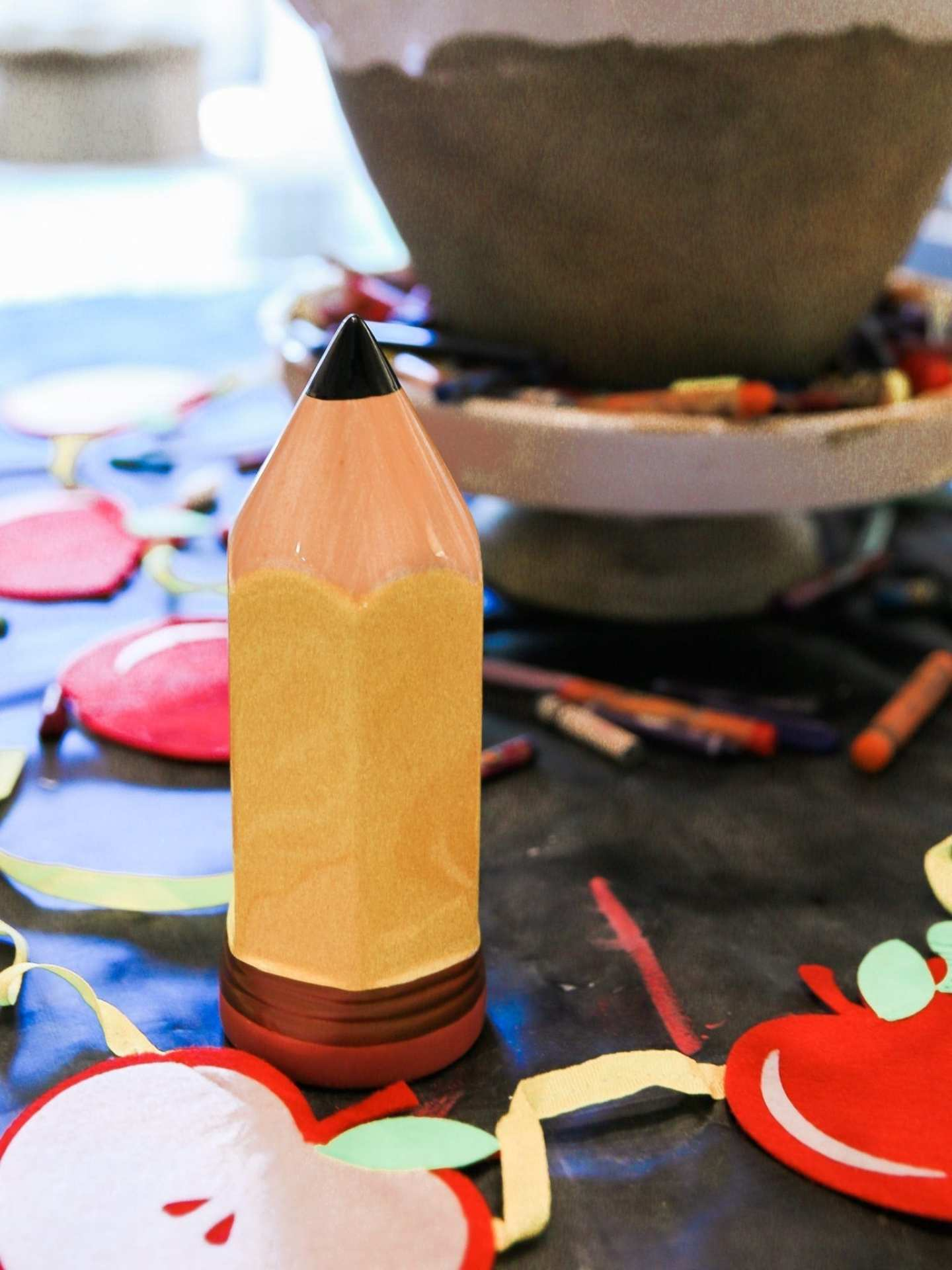first day of school activities Oversized ceramic pencil.