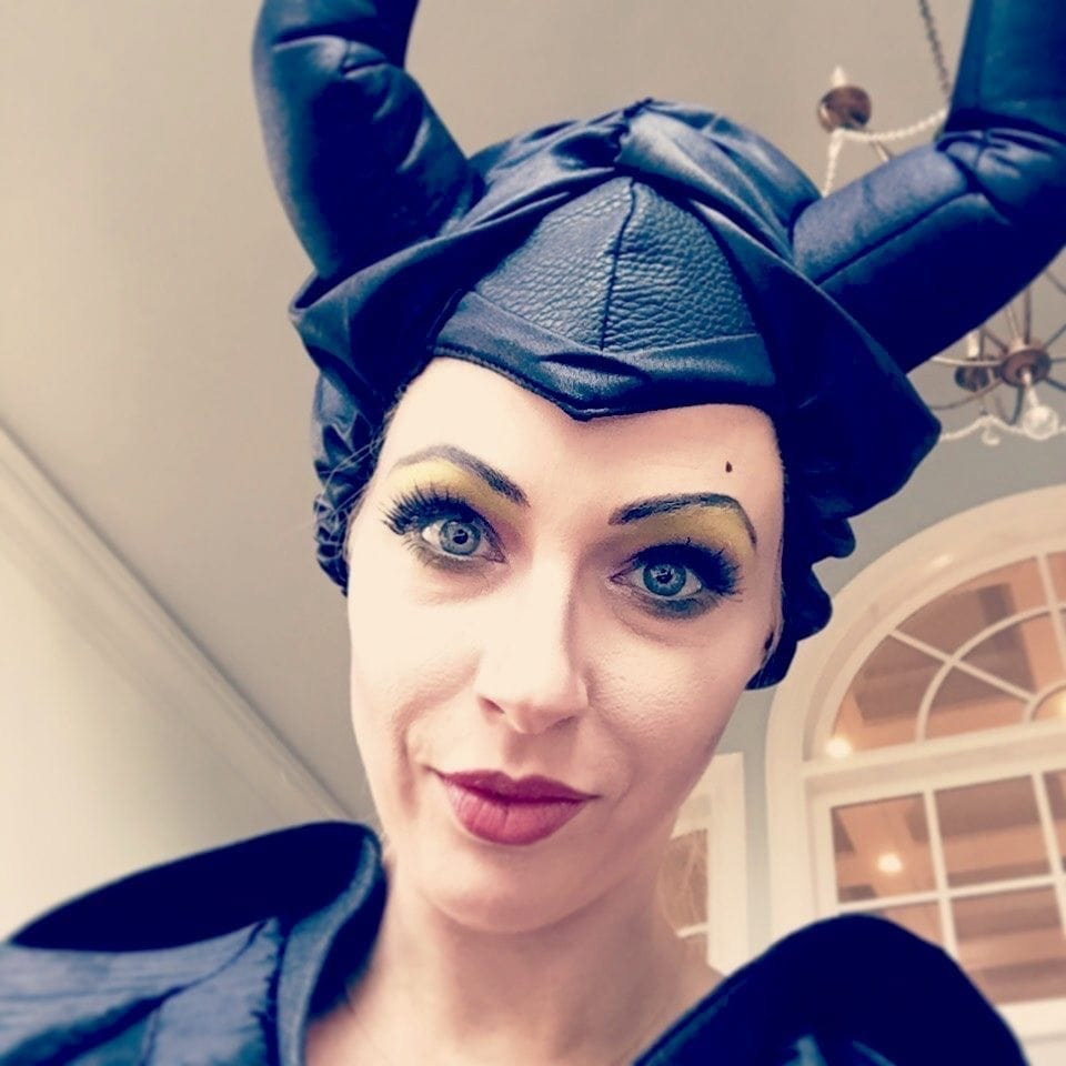 maleficent halloween costume and maleficent makeup tutorial.