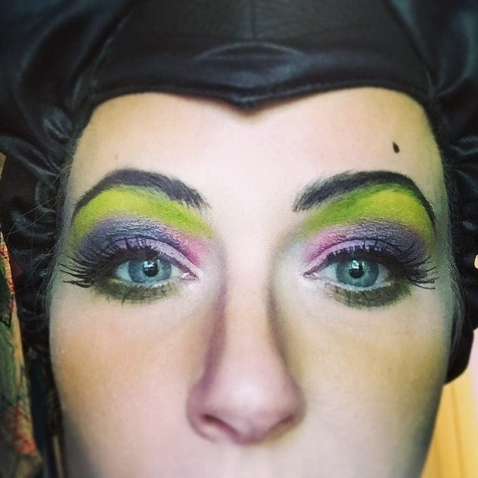 maleficent halloween costume makeup tutorial.