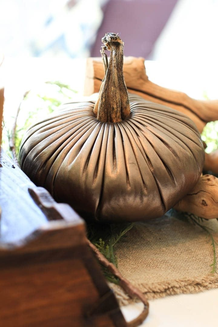 Gold leather Plush Pumpkin from bluegraygal.