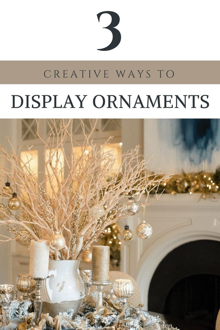 Creative ways to hang Christmas ornaments during the holidays.