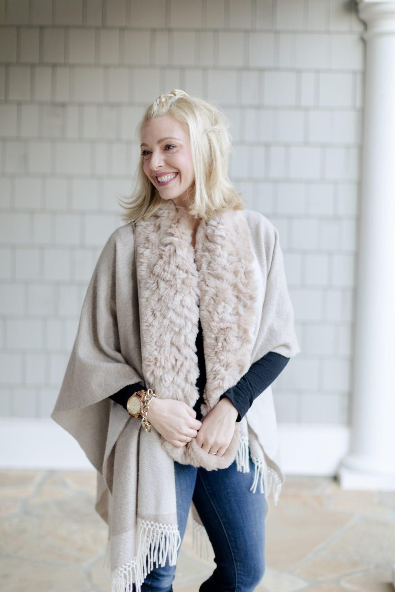 cashmere winter cape & scarf