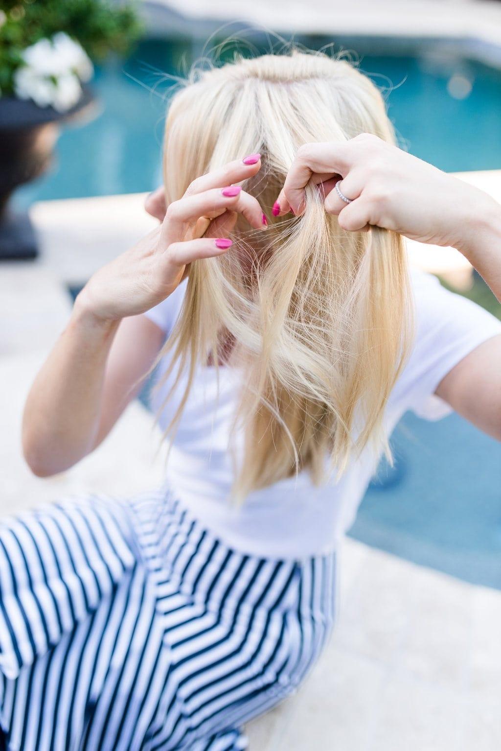 Easy braid hairstyle tutorial.