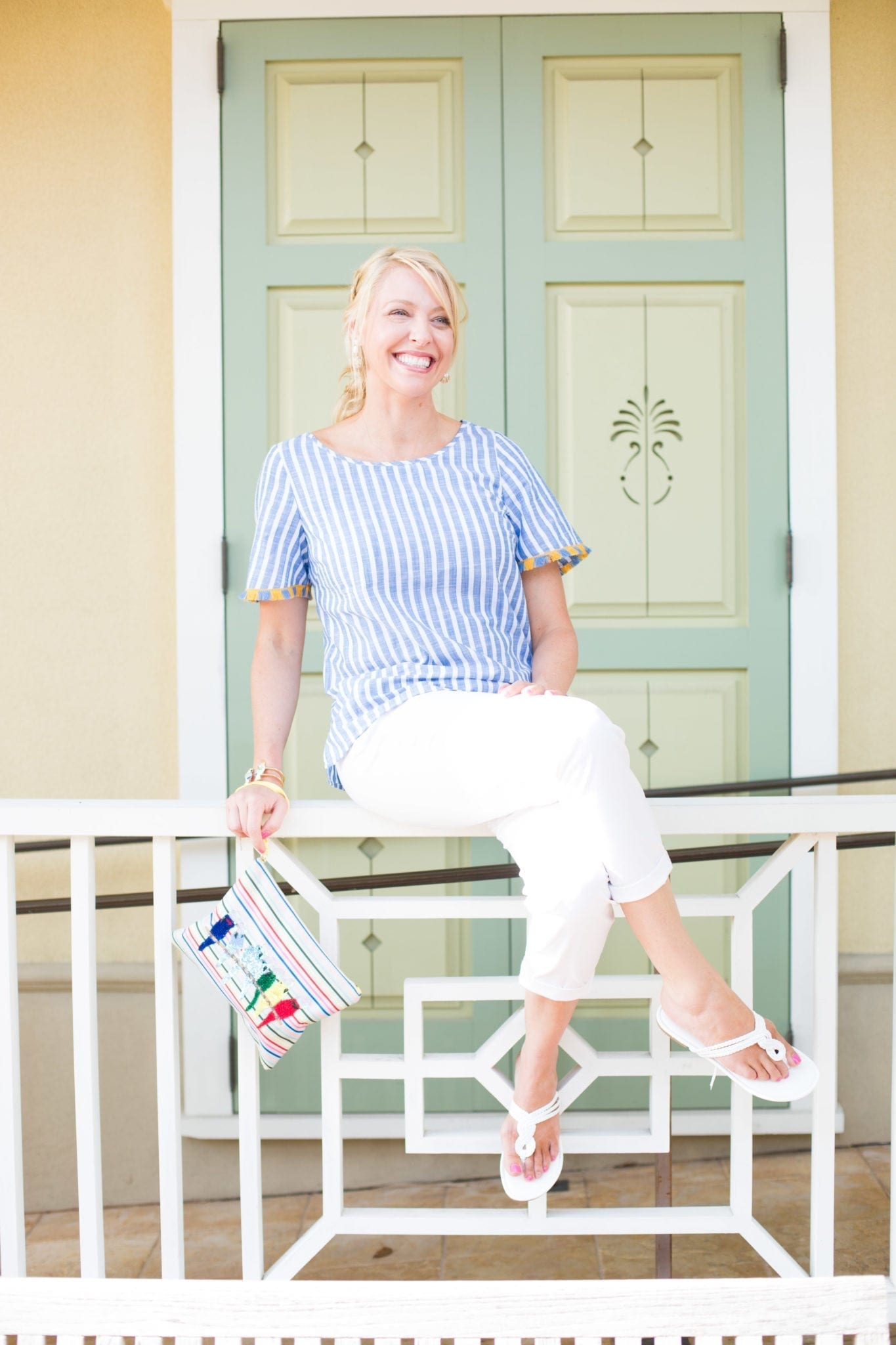 Talbots tops on sale. Easy vacation outfit.