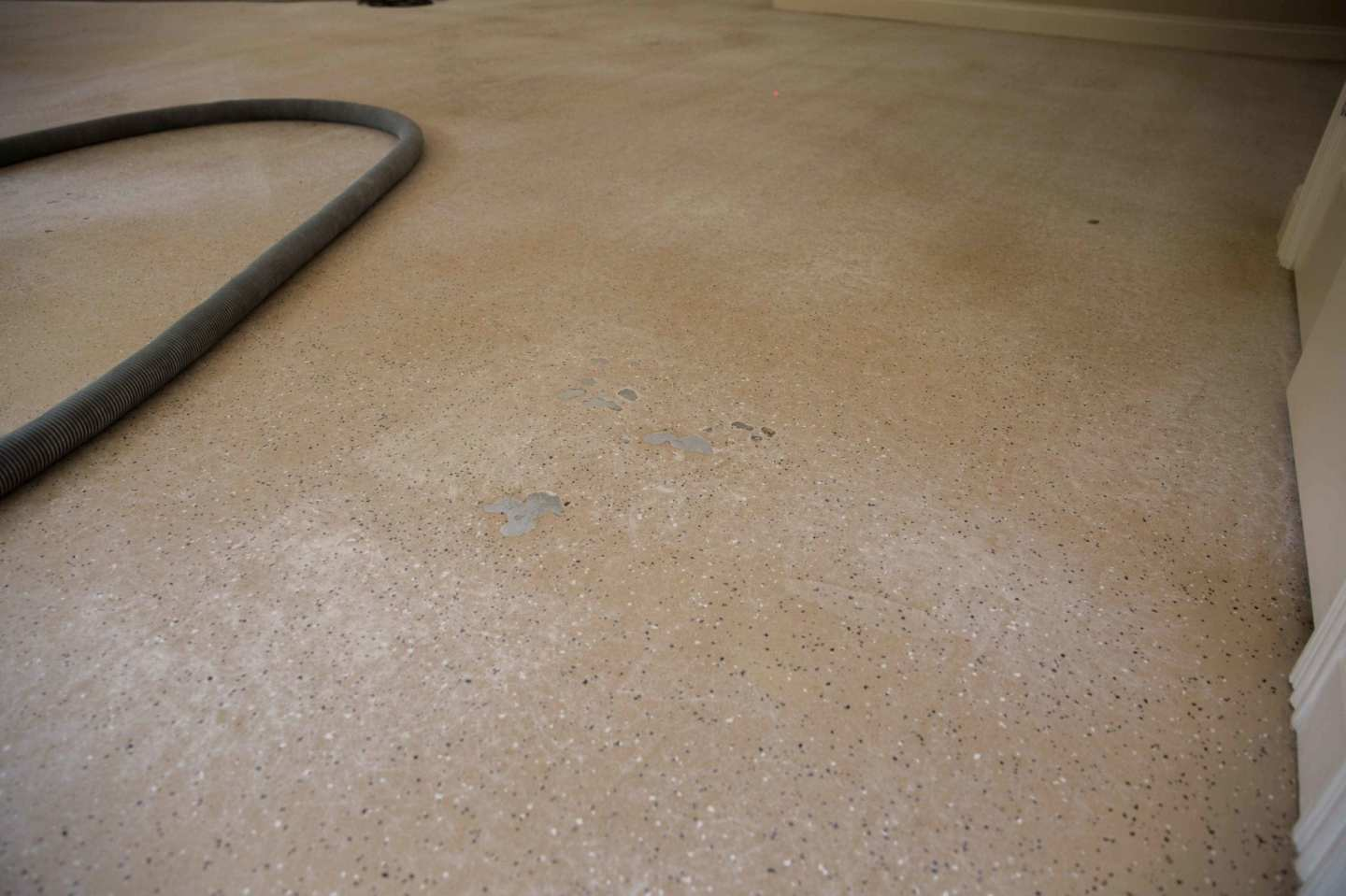 Chipped garage floor