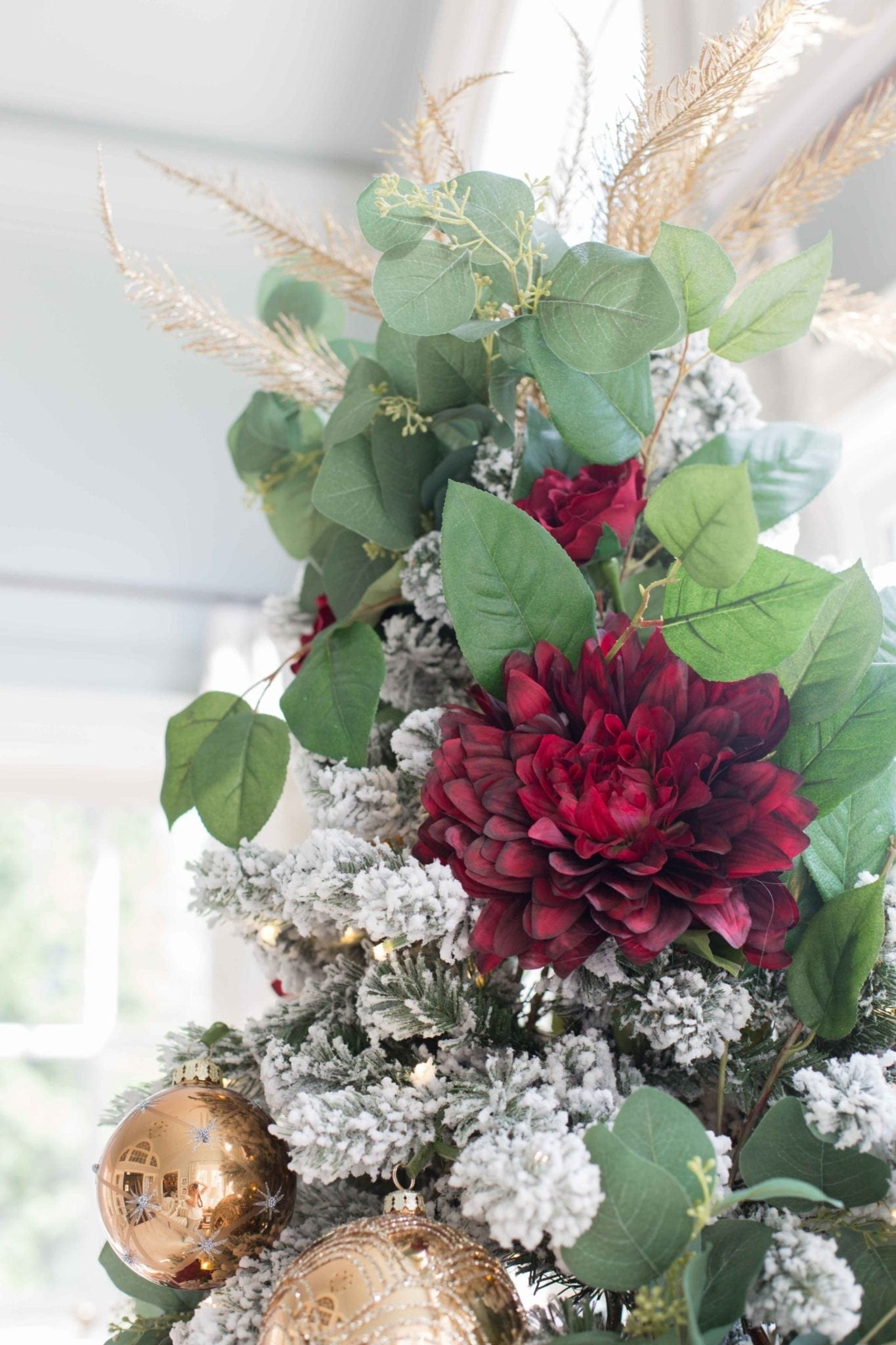 Tree Topper Ideas made with Greenery.